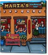 Maria's New Mexican Restaurant Acrylic Print by Victoria De Almeida