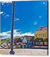 Marija Bistrica Square Colorful Panorama Acrylic Print by Brch Photography