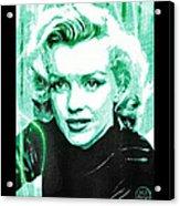 Marilyn Monroe - Green Acrylic Print by Absinthe Art By Michelle LeAnn Scott