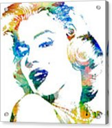 Marilyn Monroe Acrylic Print by Mike Maher