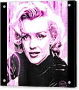 Marilyn Monroe - Pink Acrylic Print by Absinthe Art By Michelle LeAnn Scott