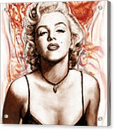 Marilyn Monroe Pop Art Drawing Sketch Portrait Acrylic Print by Kim Wang