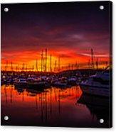 Marina Sunset Acrylic Print by Dawn OConnor