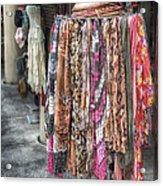 Market Scarves Acrylic Print by Brenda Bryant