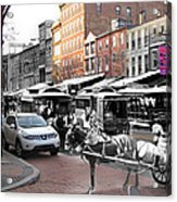 Market Street In Old City Acrylic Print by Eric Nagy