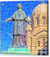 Marseille Cathedral Painting Acrylic Print by Antony McAulay