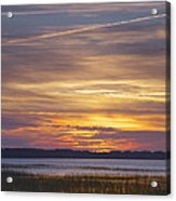 Marsh Sunset Acrylic Print by Phill Doherty