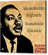 Martin Luther King Jr 1 Acrylic Print by Andrew Fare