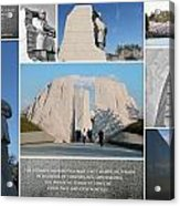 Martin Luther King Jr Memorial Collage 1 Acrylic Print by Allen Beatty