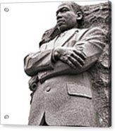 Martin Luther King Memorial Statue Acrylic Print by Olivier Le Queinec