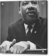 Martin Luther King Press Conference 1964 Acrylic Print by Anonymous