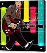 Marty Mcfly Plays Guitar Hero Acrylic Print by Akyanyme