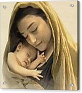 Mary And Baby Jesus Acrylic Print by Ray Downing