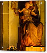 Mary And Baby Jesus Acrylic Print by Syed Aqueel