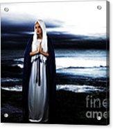 Mary By The Sea Acrylic Print by Cinema Photography