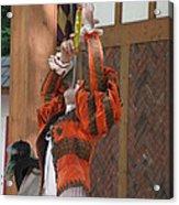 Maryland Renaissance Festival - Johnny Fox Sword Swallower - 121245 Acrylic Print by DC Photographer