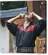 Maryland Renaissance Festival - Johnny Fox Sword Swallower - 121263 Acrylic Print by DC Photographer