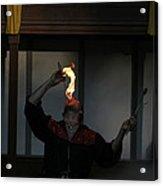 Maryland Renaissance Festival - Johnny Fox Sword Swallower - 121289 Acrylic Print by DC Photographer