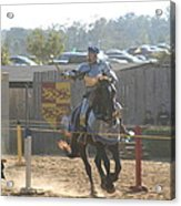 Maryland Renaissance Festival - Jousting And Sword Fighting - 1212160 Acrylic Print by DC Photographer