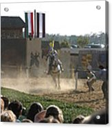 Maryland Renaissance Festival - Jousting And Sword Fighting - 1212174 Acrylic Print by DC Photographer