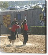 Maryland Renaissance Festival - Jousting And Sword Fighting - 121278 Acrylic Print by DC Photographer