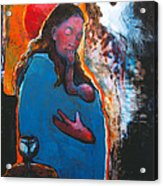 Mary's Pondering Acrylic Print by Daniel Bonnell
