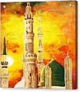 Masjid E Nabwi Acrylic Print by Catf