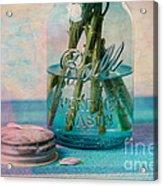 Mason Jar Vase Acrylic Print by Kay Pickens