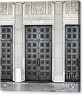 Massive Doors Acrylic Print by Olivier Le Queinec