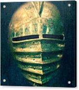 Maximilian Knights Armour Helmet Acrylic Print by Edward Fielding