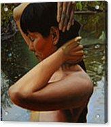 May Morning Arkansas River 3 Acrylic Print by Thu Nguyen