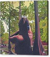 May Morning Arkansas River 5 Acrylic Print by Thu Nguyen