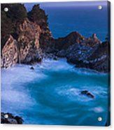 Mcway Falls Sunset Acrylic Print by About Light  Images