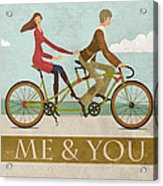 Me And You Bike Acrylic Print by Andy Scullion