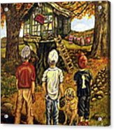 Meadow Haven Acrylic Print by Linda Simon