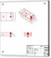 Mechanical Brick 3d Acrylic Print by Pop Horea-Vasile