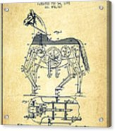 Mechanical Horse Patent Drawing From 1893 - Vintage Acrylic Print by Aged Pixel