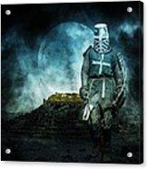 Medieval Crusader Acrylic Print by Jaroslaw Grudzinski