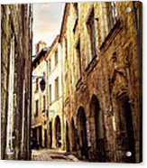 Medieval Street In Perigueux Acrylic Print by Elena Elisseeva