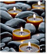 Meditation Candles Acrylic Print by Olivier Le Queinec