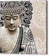 Meditation Mehndi - Paisley Buddha Artwork - Copyrighted Acrylic Print by Christopher Beikmann