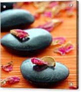 Meditation Zen Path Acrylic Print by Olivier Le Queinec