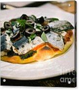Mediterranean Sardine Pizza Acrylic Print by Dean Harte