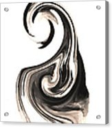 Melting In Ink Acrylic Print by Mike Grubb