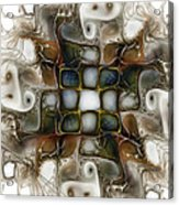 Memory Boxes-fractal Art Acrylic Print by Karin Kuhlmann