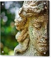 Memphis Elmwood Cemetery - Girl With Cross Close-up Acrylic Print by Jon Woodhams