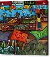 Mercado Mexicana Acrylic Print by Patti Schermerhorn
