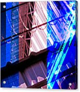 Merged - Blue Barbed Acrylic Print by Jon Berry