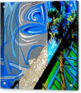 Merged - Painted Blues Acrylic Print by Jon Berry OsoPorto
