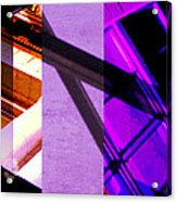 Merged - Purple City Acrylic Print by Jon Berry OsoPorto